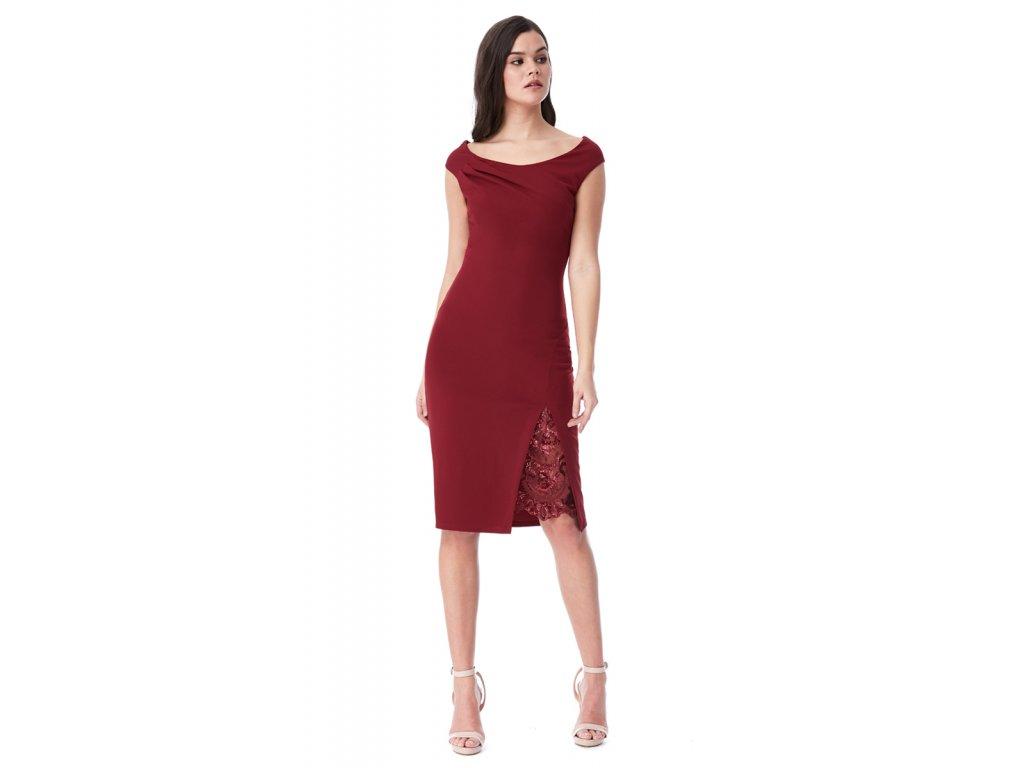 CG koktejlové vínové šaty 1cb8a2748fe