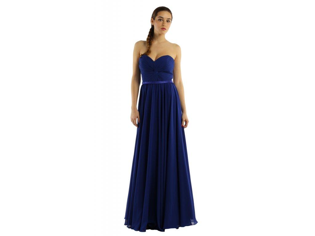 5d02696bd462 Tmavě modré společenské plesové šaty - Coolboutique