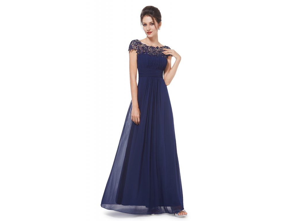 2e1c20b68d6a Ever Pretty modré šaty s krajkovým živůtkem - Coolboutique
