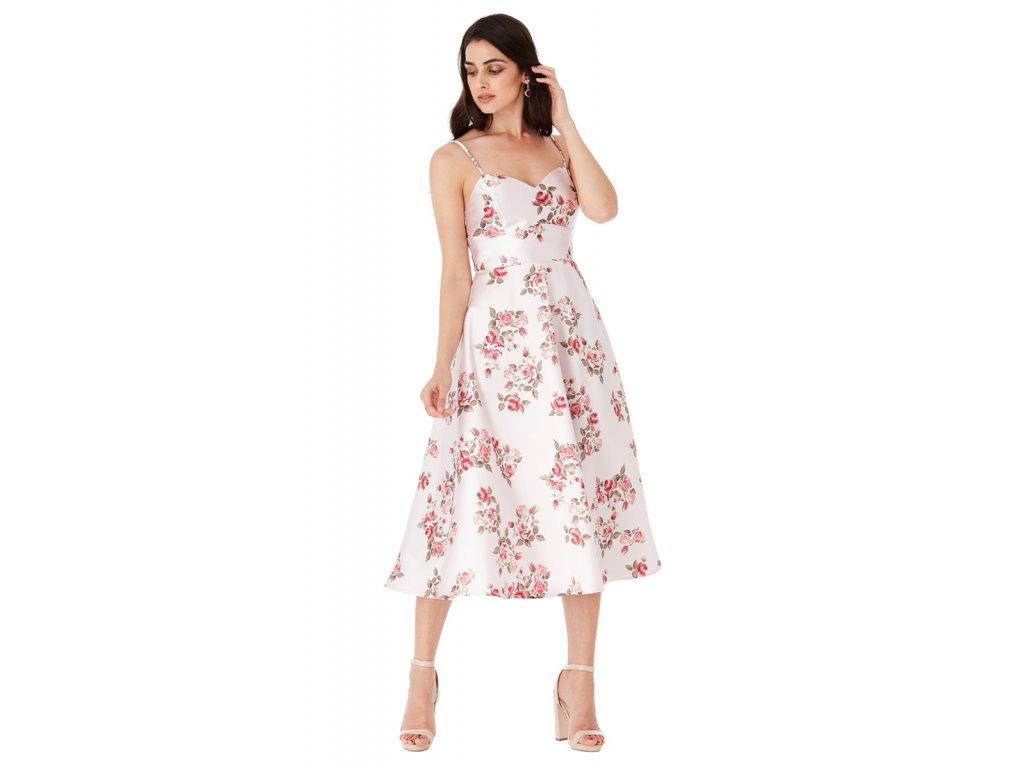 Letní saténové šaty na svatbu b33b6f94e3