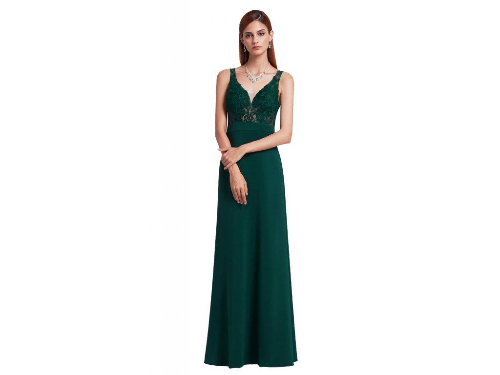 e8cf8c934dcd Zelené plesové šaty Ever Pretty