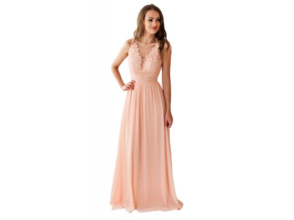 08b4c09218 Růžové společenské šaty na svatbu