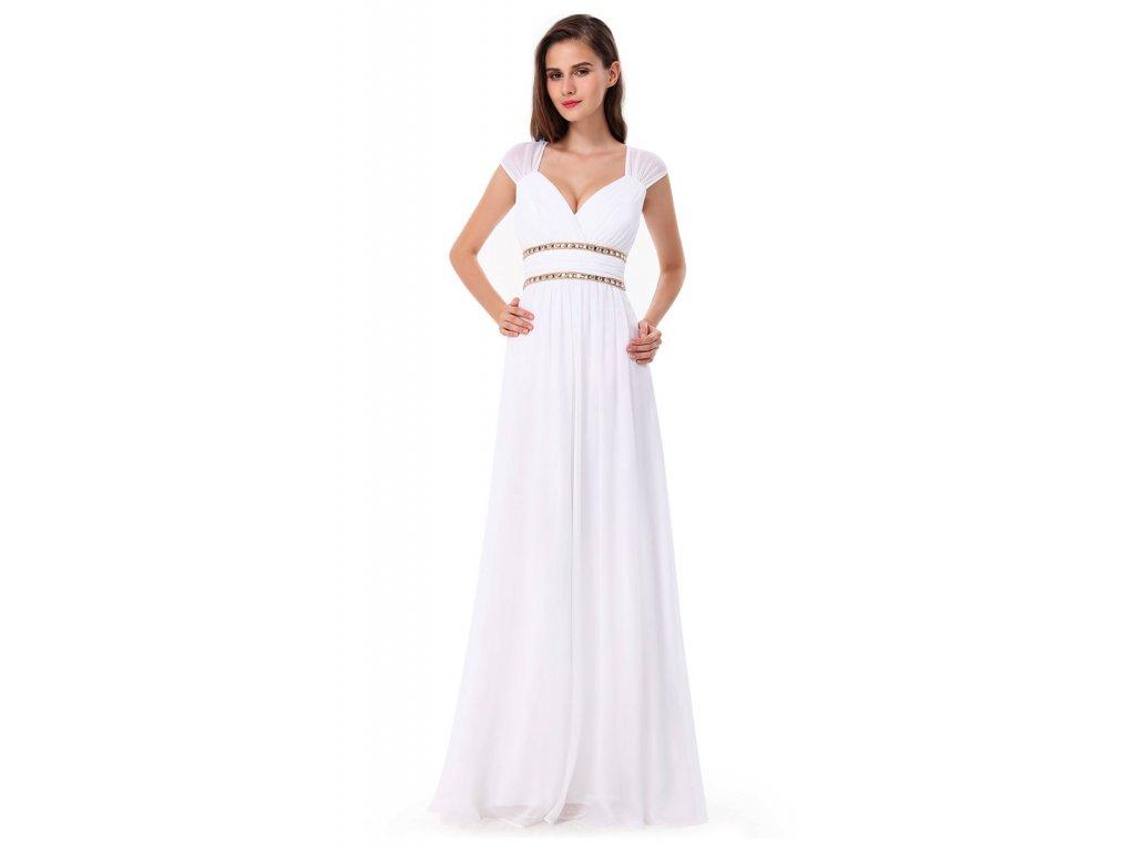 53b5a641d4ab Bílé antické šaty Ever Pretty svatební