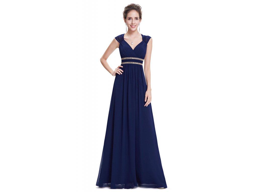 EVER PRETTY modré antické šaty 50c7041da44