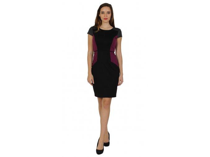 Šaty s krátkým rukávem business