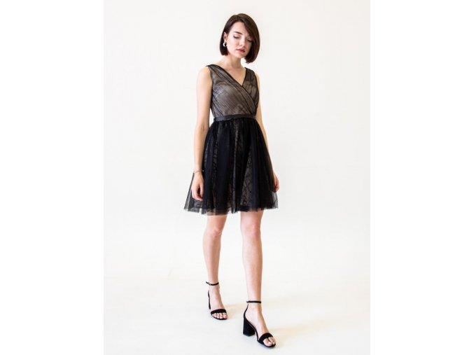 Černé mini šaty do tanečních
