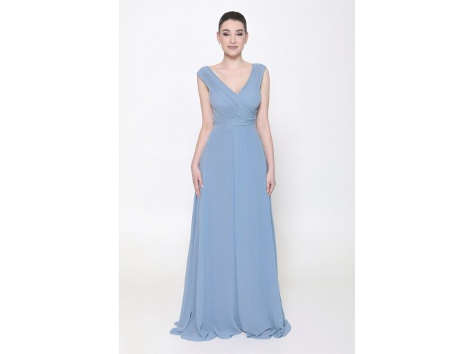 Šaty pro družičky na svatbu pastelové modré