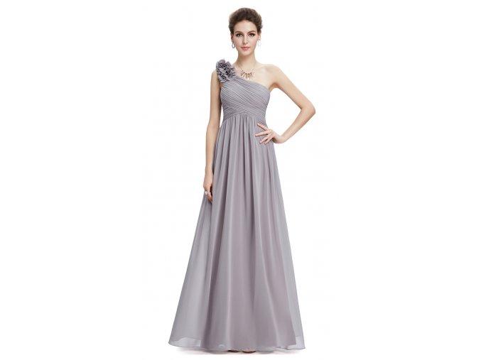 Dlouhé šaty pro družičky šedé