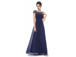 Ever Pretty modré šaty s krajkovým živůtkem