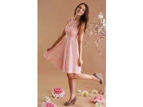 Růžové šaty pro družičky taneční