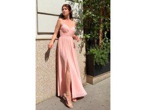 šaty dl ružové