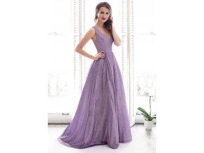 Dlouhé společenské glitrové šaty maturitní
