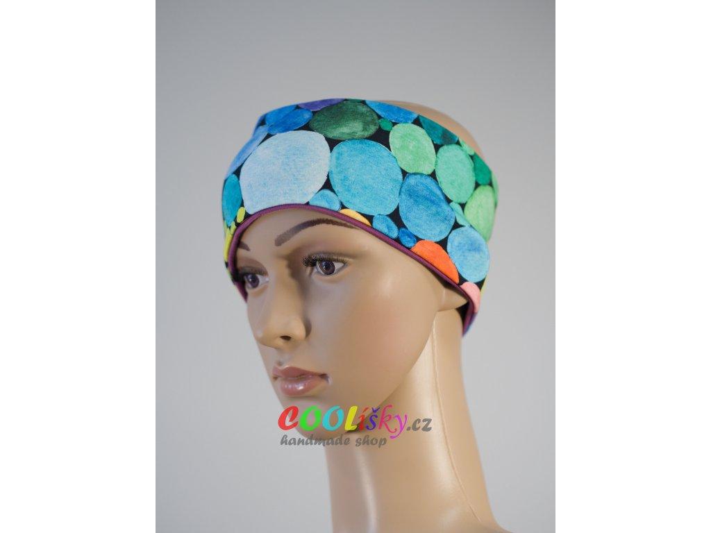 Dámská sportovní čelenka barevná