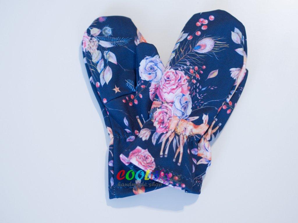 Softshellové rukavice dívčí srnečky