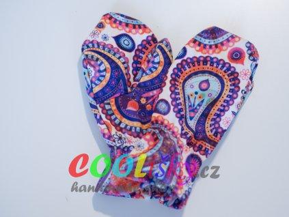 Softshellové rukavice dívčí mandaly