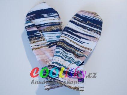 Softshellové rukavice dívčí pruhy
