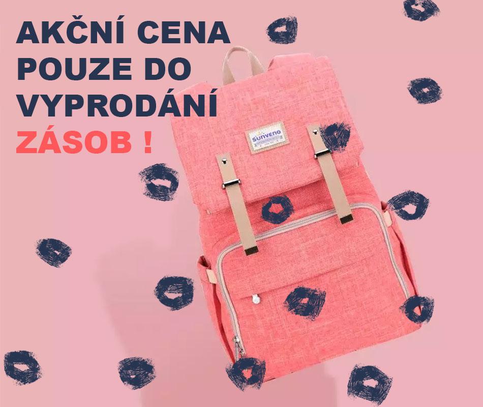 Výprodej růžový batoh
