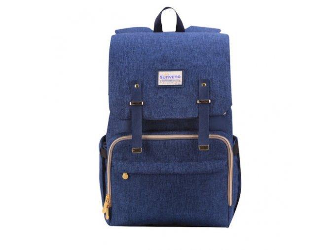 Přebalovací batoh na kočárek modrý