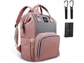 Přebalovací batoh růžovošedý
