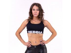Nebbia Airy Straps sportovni podprsenka 693 černá
