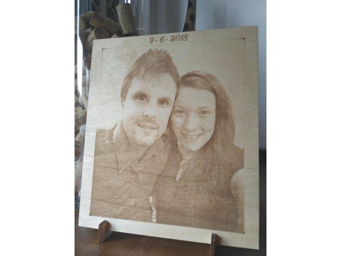 Dřevěný portrét 20x23 cm