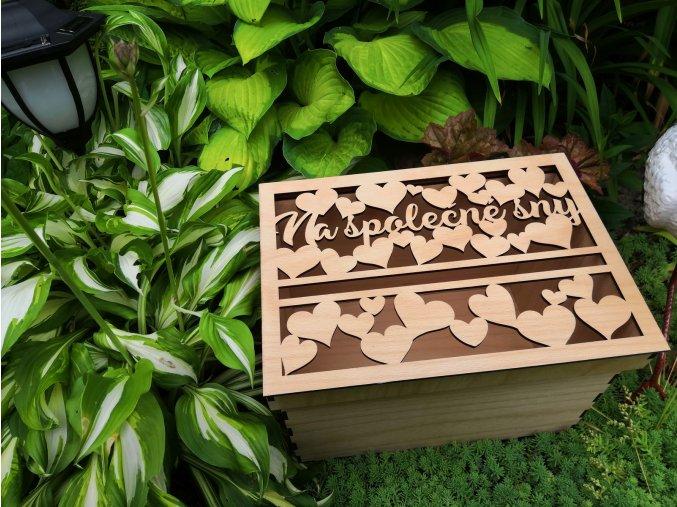 Svatební krabice s víkem