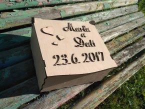 Svatební krabice střední
