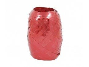 Stuha vázací - 20m, metal, červená