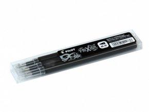 Náplň PILOT FRIXION CLICKER do přepisovatelného rolleru - černá, 0,5mm, 3ks