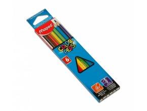 Pastelky trojhranné - 6ks, MAPED, Color Peps
