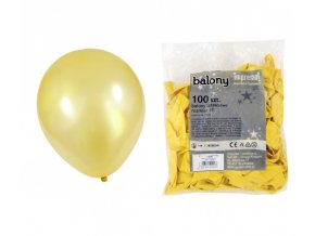 Balónek METAL - žlutý