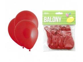 Balónek OBYČEJNÝ -  červený