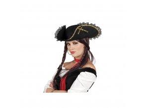 Dámský klobouk - pirátka