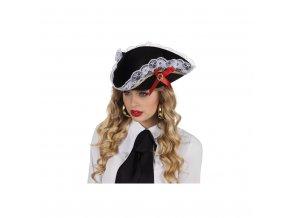 Dámský klobouk - pirátský