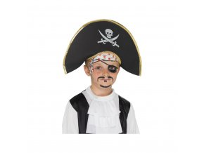 Dětský klobouk - pirátský kapitán