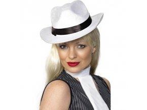 Gangster klobouk - bílý