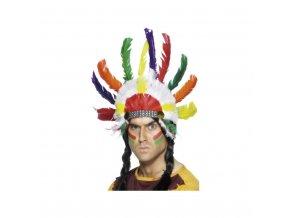 Indiánská čelenka - Náčelník, barevná