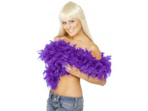Boa fialové - luxusní, délka 180cm, 80g