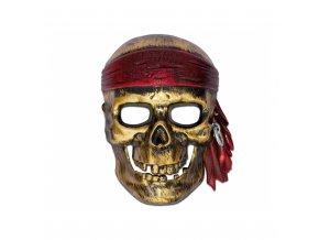 Maska - pirát, kostlivec
