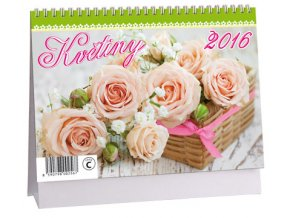 Kalendář 2016 - KVĚTINY, 23x16cm