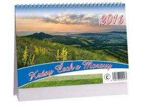 Kalendář 2016 - KRÁSY ČECH A MORAVY, 23x16cm