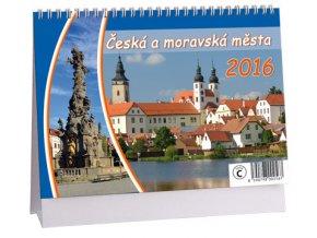 Kalendář 2016 - ČESKÁ A MORAVSKÁ MĚSTA, 23x16cm
