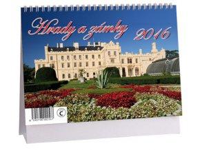 Kalendář 2016 - HRADY A ZÁMKY, 23x16cm