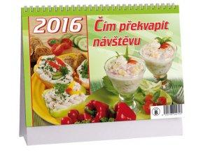 Kalendář 2016 - ČÍM PŘEKVAPIT NÁVŠTĚVU, 23x16cm
