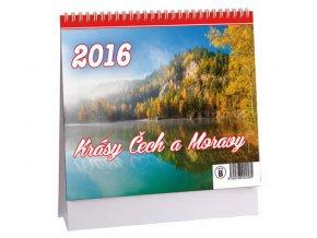 Kalendář 2016 - KRÁSY ČECH A MORAVY, 17x14,5cm