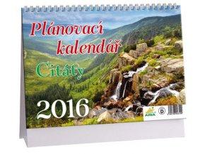 Kalendář 2016 - PLÁNOVACÍ S CITÁTY, 23x16cm