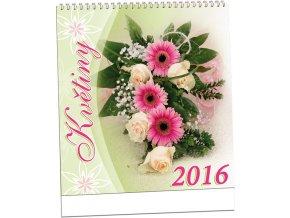 Kalendář 2016 - KVĚTINY, 32x34cm