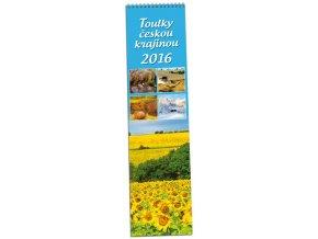 Kalendář 2016 - TOULKY ČESKOU KRAJINOU, 10,5x46cm