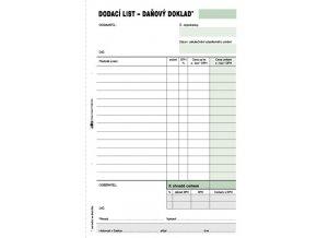 Dodací list - daňový doklad