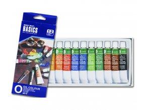 Barvy olejové, sada 12 barev, 12 ml